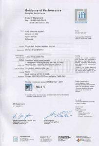 sarvuotos durys standart 3 sertifikatas 4
