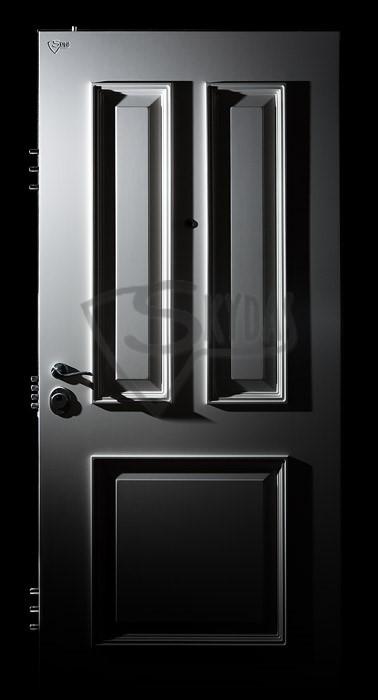 Skydas RC sarvuotos durys baltos