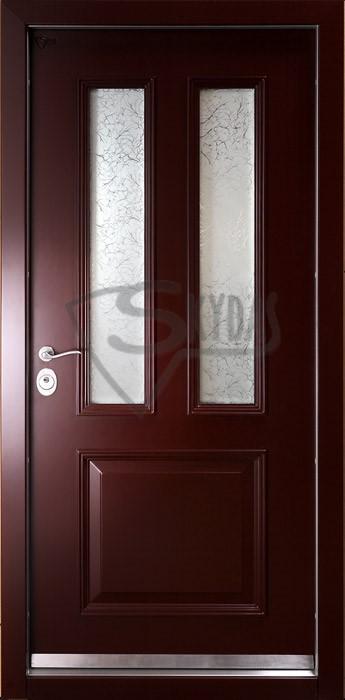 Skydas lauko sarvuotos durys su stiklais