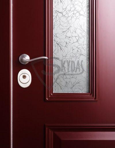 Skydas sarvuotu duru detale