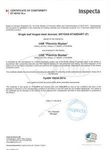 sarvuotos durys standart 3 sertifikatas 2