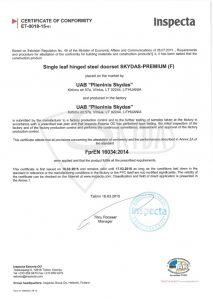 sarvuotos durys sertifikatas 4