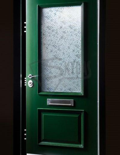 SKYDAS lauko durys zalios su stiklu