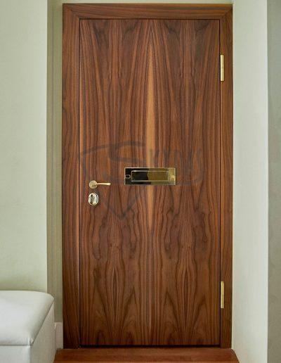 Skydas buto durys su pasto dezute