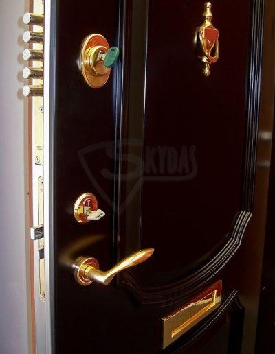 Skydas durys su bagetais