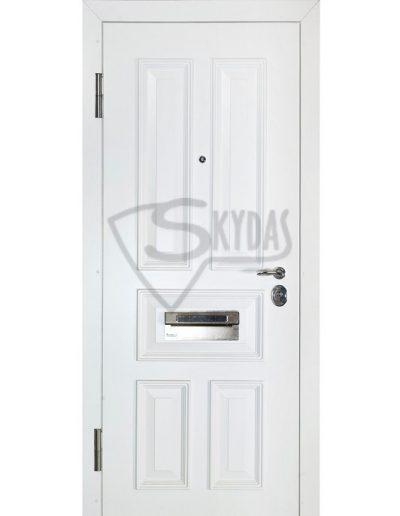 Skydas sarvo durys baltos